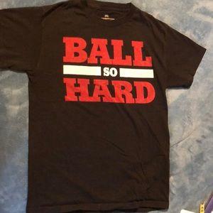 Basketball graphic tee shirt